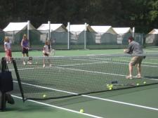 Sam at tennis