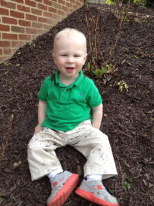 Mason in the dirt