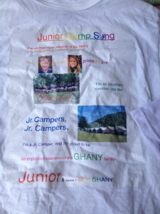 Camp Alleghany Home made tee shirt