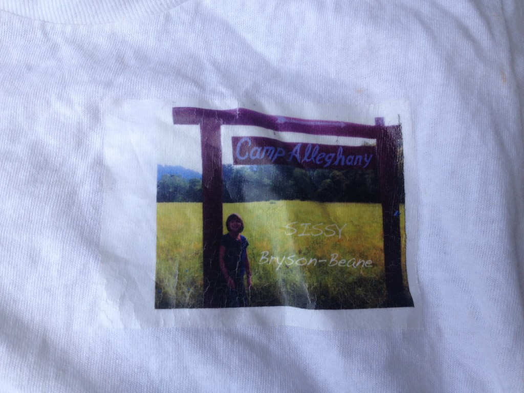 Camp Alleghany home made tee