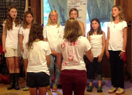 Singing at Camp Alleghany