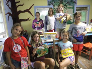 Sewing at Camp Alleghany