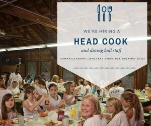 Head Cook Job Camp Alleghany
