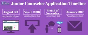 Junior Counselor Applications for Summer 2017