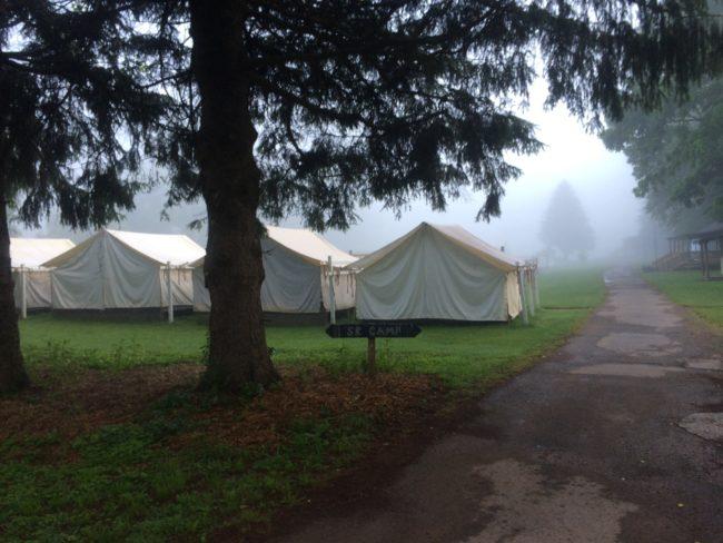 Camp at dawn. (Click to enlarge.)