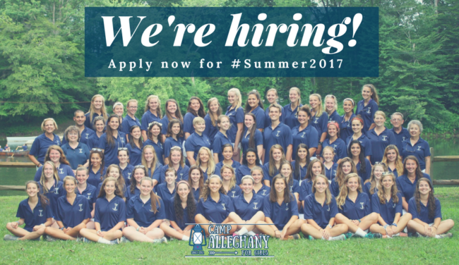 Summer camp jobs