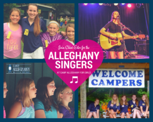singing at camp