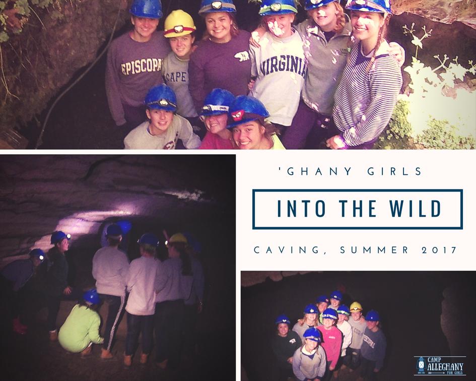 Caving at summer camp