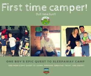 Off to My Son's First Sleepaway Camp