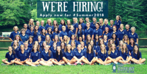 Available Summer Camp Jobs for 2018